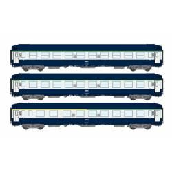 3-set of berth coaches UIC, SNCF.