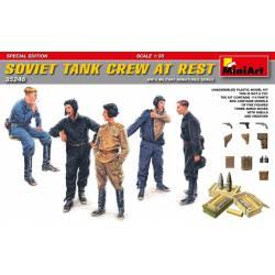 Soviet tank crew at rest. WWII.