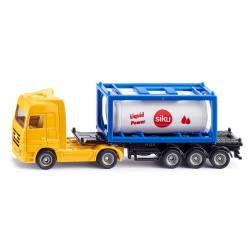 Camión con contenedor de líquidos. SIKU 1795
