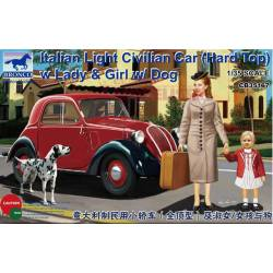 Italian light civilian car w/ figures. BRONCO CB35167