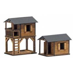 Casas de juegos de madera.