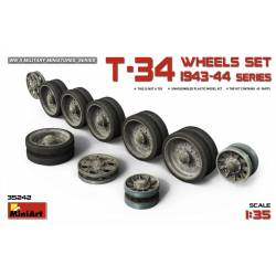 T-34 Wheels set. 1943-44 series. MINIART 35242