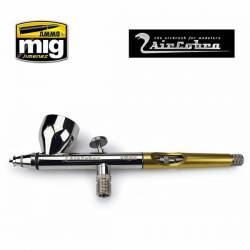 Double action gravity airbrush, AIRCOBRA. AMIG 8625