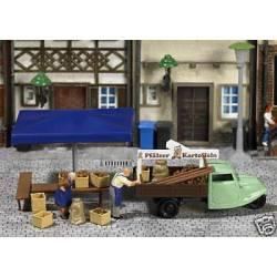 Mini world: Stall with potatoes.