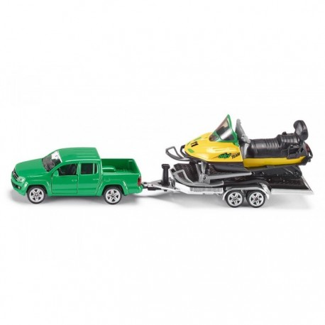 Car with trailer and snowmobile. SIKU 2548