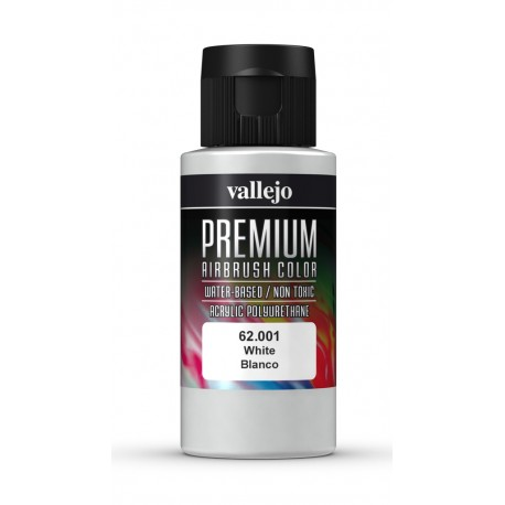 Airbrush color, white. 60 ml. VALLEJO 62001