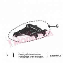 Pantógrafo con aislantes para RENFE 440. ER3607/06