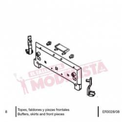 Stoppers, skirts and front parts, RENFE 278. ER3028/08