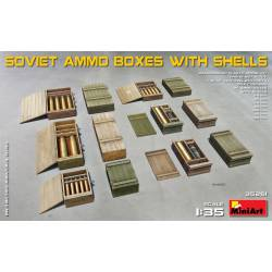 Soviet ammo boxes with shells. MINIART 35261