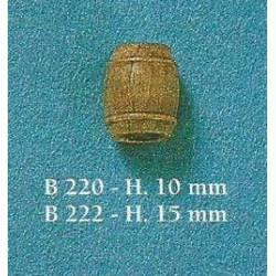 Barriles de madera, 15 mm (x10). COREL B-222