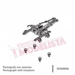 Pantógrafo con aislantes para RENFE 440. ER3600/06