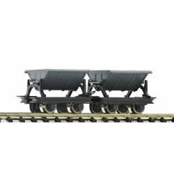 Dos vagonetas para carbón. ROCO 34600