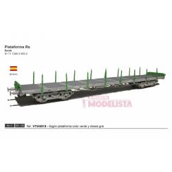 Platform wagon type RS, RENFE. Green.