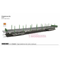 Platform wagon type RS, RENFE. Green.