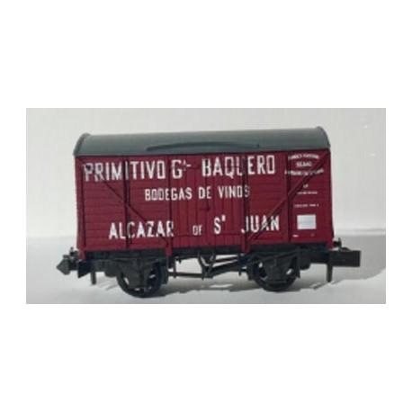 """Vagón cerrado """"Primitivo Gª Baquero"""". PECO NR-P943"""