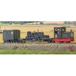 Tren Wollibau con bulldozer. MINITRAINS 5096
