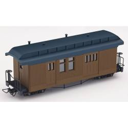 F&C baggage car, brown no lettering. MINITRAINS 5152