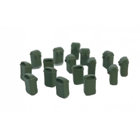 Papeleras colgantes, verdes. (x10). 87TRAIN 222.75