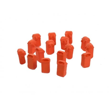 Papeleras colgantes, naranjas. (x10). 87TRAIN 222.74