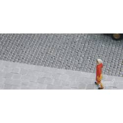 Placa de adoquines, gris claro. JUWEELA 28267