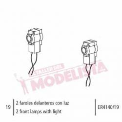 Front lamps with lights (x2).