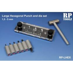 Large hexagonal Punch and die. RP-LHPD