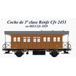 Coche 3ª clase RENFE Cfv 2453. LACALLE 00132