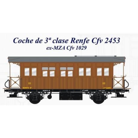 3rd class coach RENFE Cfv 2453. LACALLE 00132
