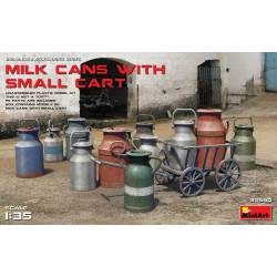 Milk cans with cart. MINIART 35580