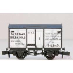 """Vagón cerrado """"Bodegas Bilbainas""""."""