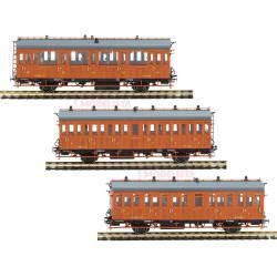 Set de 3 coches serie 1678/1835, RENFE.