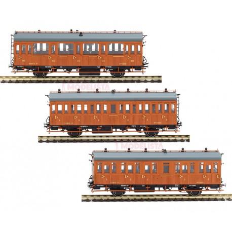 3-set coaches series 1678/1835, RENFE. MABAR 81608