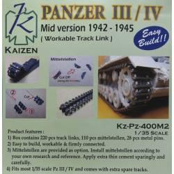 Panzer III/IV Track (1942-45). KAIZEN Kz-Pz-400M2