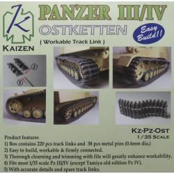 Panzer III/IV Track (Ostketten version). KAIZEN Kz-Pz-OST