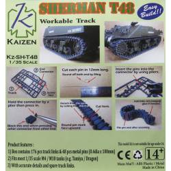 Cadenas para Sherman T48. KAIZEN Kz-SH-T48
