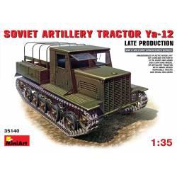 Tractor de artillería soviético Ya-12, ver. final.