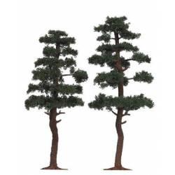 Dos pinos realistas de 130-145 mm.