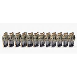 Infantry riflemen lined up.