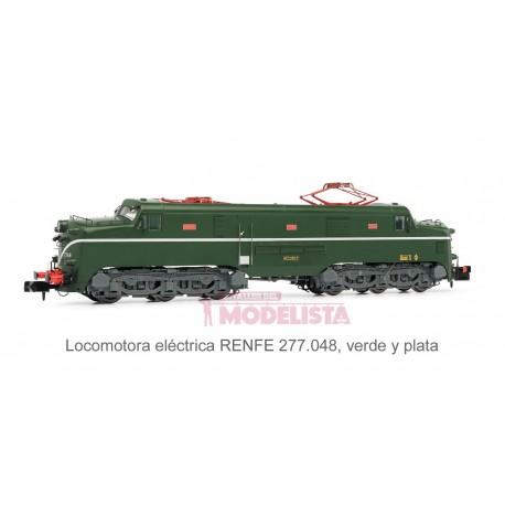 Locomotora 277.048 (verde-plata). Sonido.