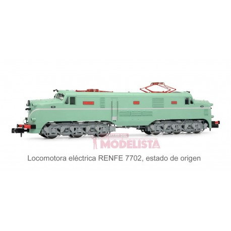 Electric locomotive RENFE 7702. Sound.