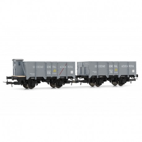 """R.N., set of 2 unified wagons """"Azucarera""""."""