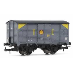 Vagón cerrado gris J, TE.