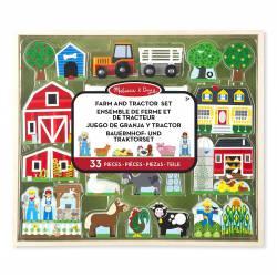 Farm and tractor set. MELISSA AND DOUG