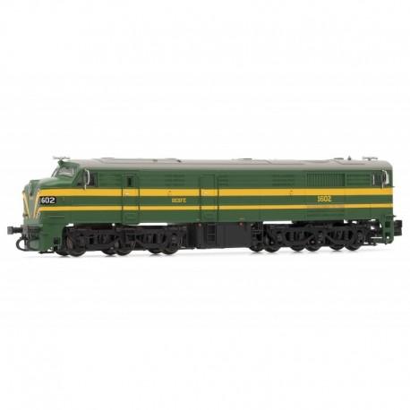 Locomotive 1602, RENFE. Sound.