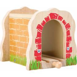 Túnel de madera.