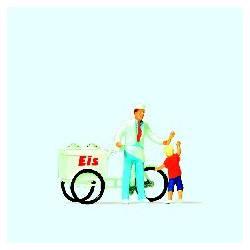 Ice cream man and child.