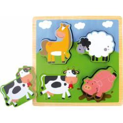 "Puzzle ""animales de granja""."