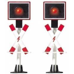 2 crossing signals.