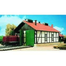 Depósito para dos locomotoras. KIBRI 39438