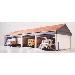 Garage for trucks.
